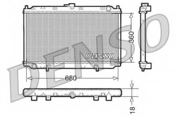 Радиатор охлаждения двигателя DENSO DRM46011 - изображение