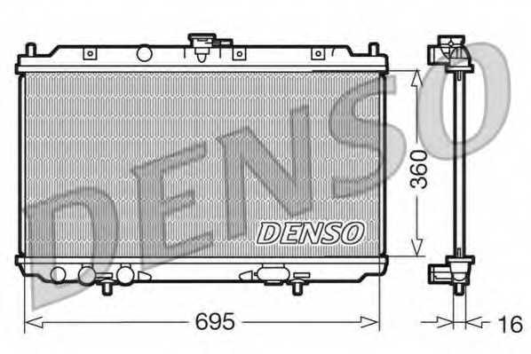 Радиатор охлаждения двигателя DENSO DRM46012 - изображение
