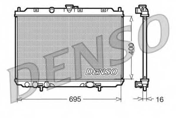 Радиатор охлаждения двигателя DENSO DRM46013 - изображение