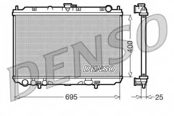 Радиатор охлаждения двигателя DENSO DRM46016 - изображение