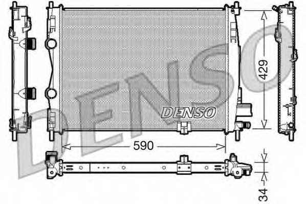 Радиатор охлаждения двигателя DENSO DRM46018 - изображение