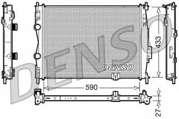 Радиатор охлаждения двигателя DENSO DRM46019 - изображение