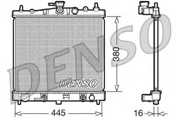 Радиатор охлаждения двигателя DENSO DRM46021 - изображение