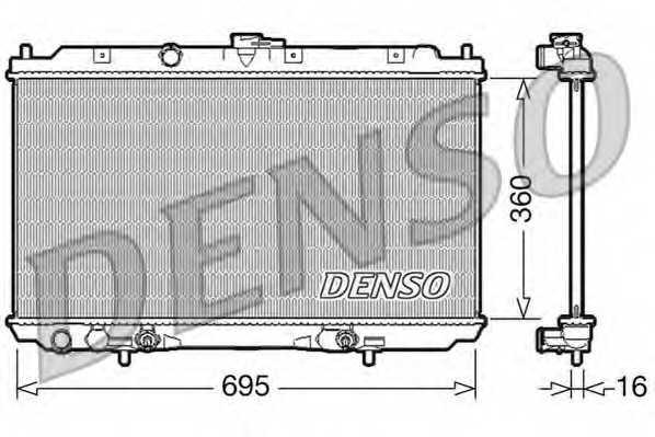 Радиатор охлаждения двигателя DENSO DRM46024 - изображение