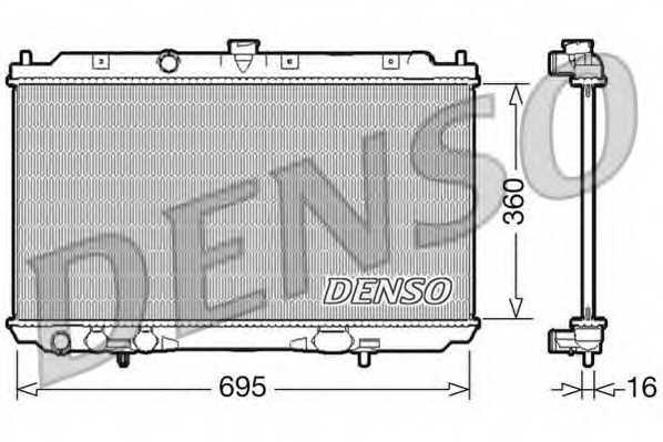 Радиатор охлаждения двигателя DENSO DRM46025 - изображение