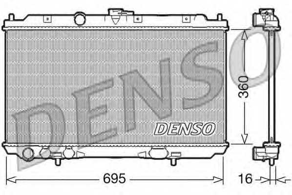 Радиатор охлаждения двигателя DENSO DRM46027 - изображение
