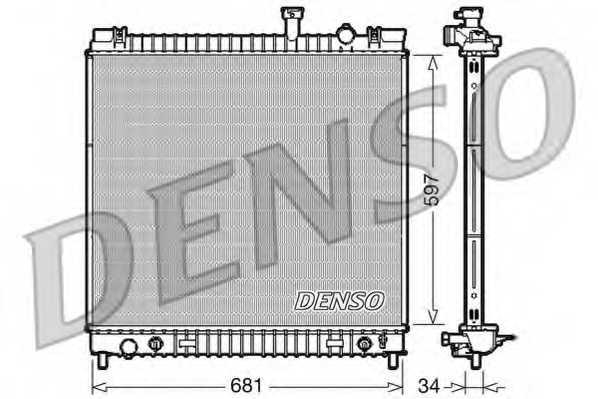 Радиатор охлаждения двигателя DENSO DRM46031 - изображение
