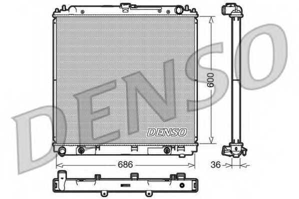 Радиатор охлаждения двигателя DENSO DRM46032 - изображение