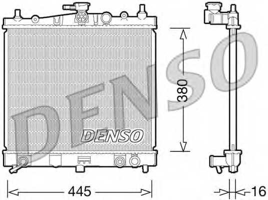Радиатор охлаждения двигателя DENSO DRM46036 - изображение