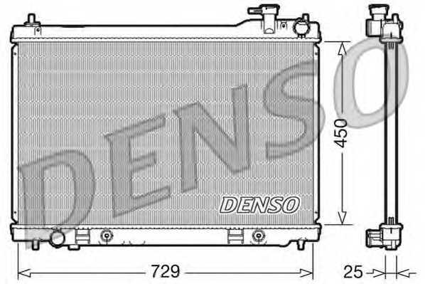 Радиатор охлаждения двигателя DENSO DRM46100 - изображение