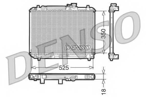 Радиатор охлаждения двигателя DENSO DRM47001 - изображение