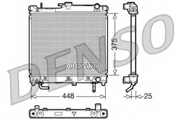 Радиатор охлаждения двигателя DENSO DRM47003 - изображение