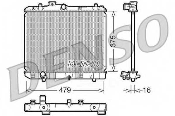 Радиатор охлаждения двигателя DENSO DRM47004 - изображение