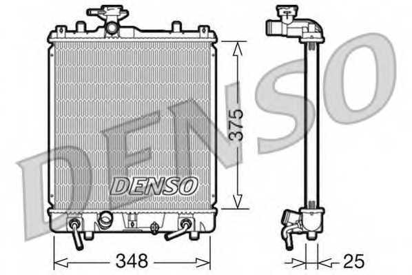 Радиатор охлаждения двигателя DENSO DRM47009 - изображение