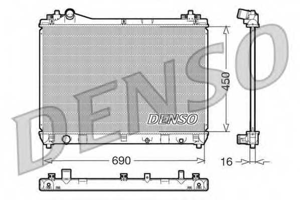 Радиатор охлаждения двигателя DENSO DRM47011 - изображение