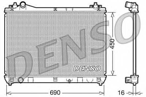 Радиатор охлаждения двигателя DENSO DRM47016 - изображение