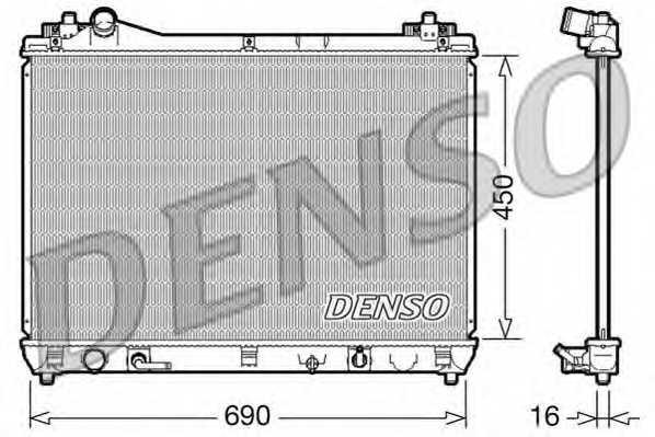 Радиатор охлаждения двигателя DENSO DRM47017 - изображение