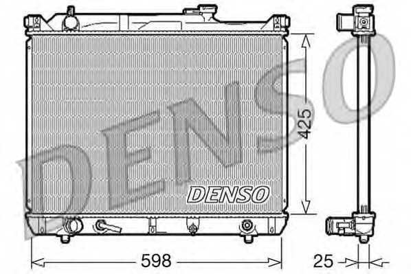 Радиатор охлаждения двигателя DENSO DRM47021 - изображение
