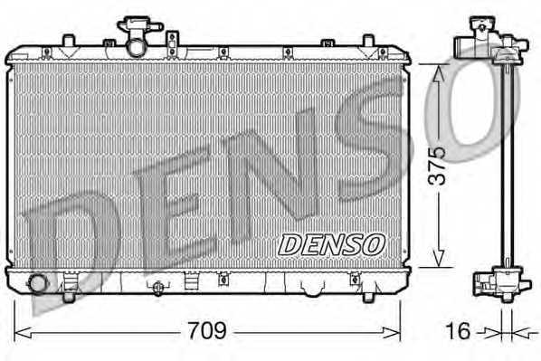 Радиатор охлаждения двигателя DENSO DRM47023 - изображение