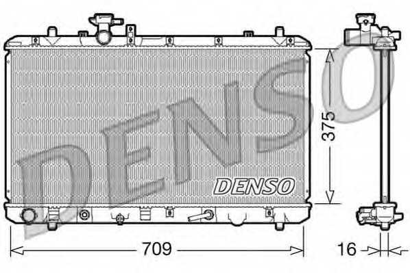 Радиатор охлаждения двигателя DENSO DRM47024 - изображение