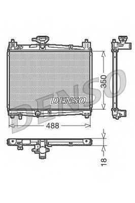 Радиатор охлаждения двигателя DENSO DRM50001 - изображение