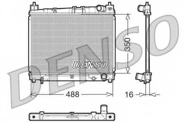 Радиатор охлаждения двигателя DENSO DRM50006 - изображение