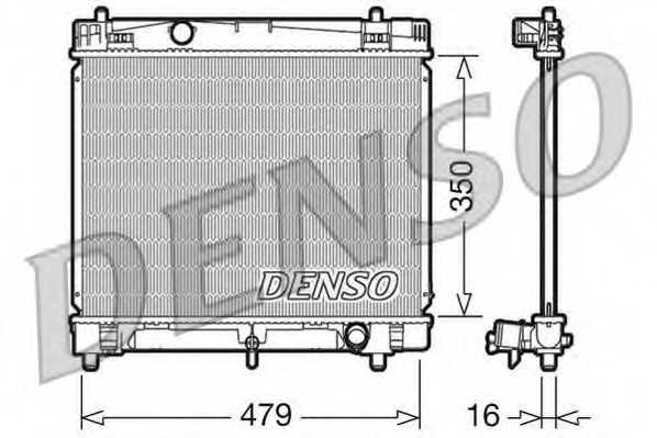 Радиатор охлаждения двигателя DENSO DRM50008 - изображение
