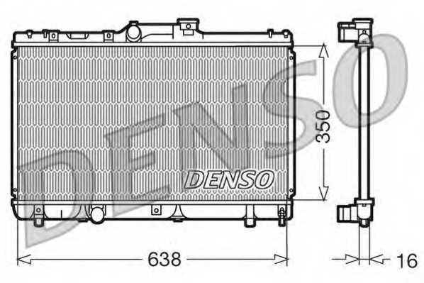 Радиатор охлаждения двигателя DENSO DRM50013 - изображение