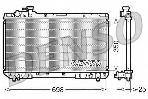 Радиатор охлаждения двигателя DENSO DRM50020 - изображение