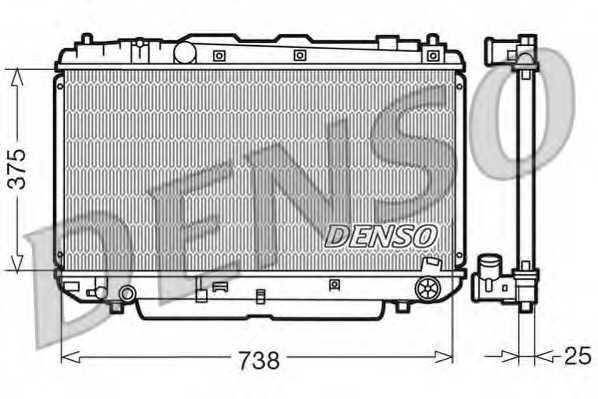 Радиатор охлаждения двигателя DENSO DRM50021 - изображение