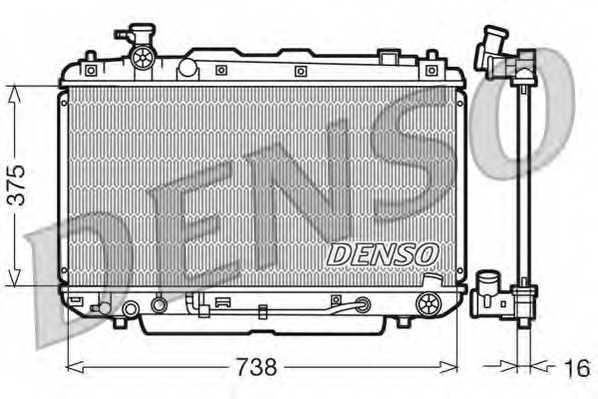 Радиатор охлаждения двигателя DENSO DRM50022 - изображение