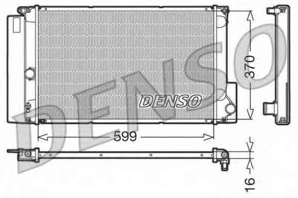 Радиатор охлаждения двигателя DENSO DRM50026 - изображение