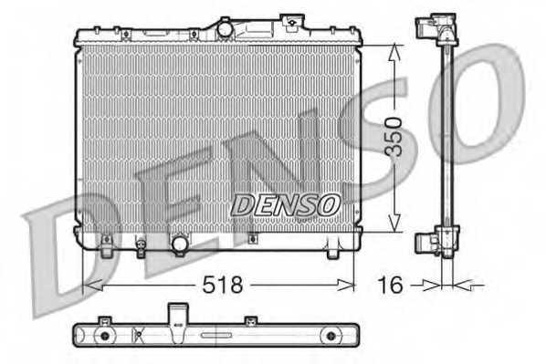 Радиатор охлаждения двигателя DENSO DRM50029 - изображение