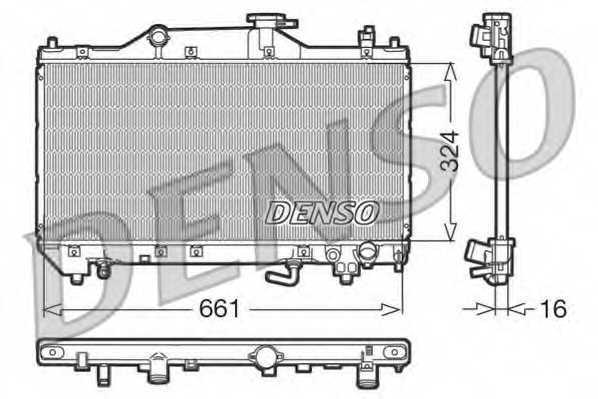 Радиатор охлаждения двигателя DENSO DRM50031 - изображение