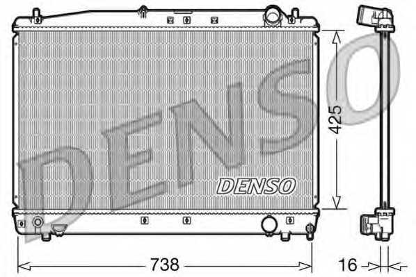 Радиатор охлаждения двигателя DENSO DRM50033 - изображение
