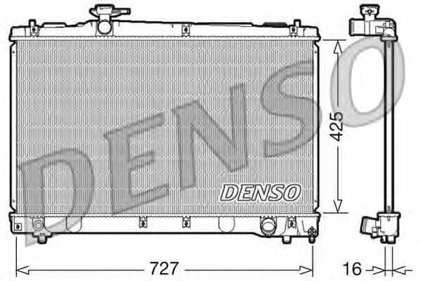Радиатор охлаждения двигателя DENSO DRM50034 - изображение