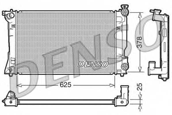 Радиатор охлаждения двигателя DENSO DRM50035 - изображение