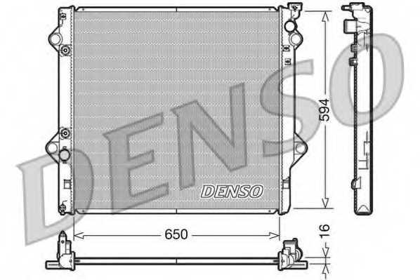 Радиатор охлаждения двигателя DENSO DRM50036 - изображение