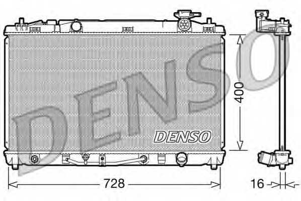 Радиатор охлаждения двигателя DENSO DRM50042 - изображение