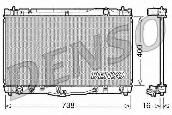 Радиатор охлаждения двигателя DENSO DRM50043 - изображение