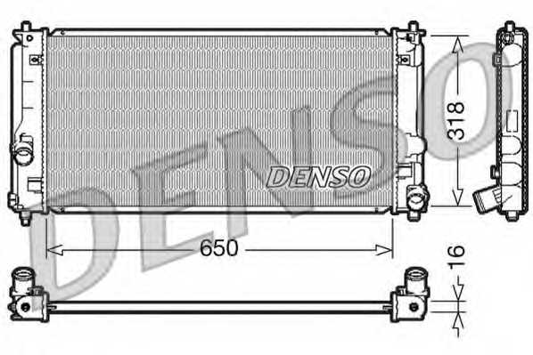 Радиатор охлаждения двигателя DENSO DRM50044 - изображение
