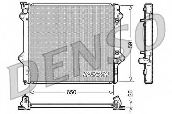 Радиатор охлаждения двигателя DENSO DRM50046 - изображение