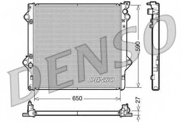 Радиатор охлаждения двигателя DENSO DRM50047 - изображение