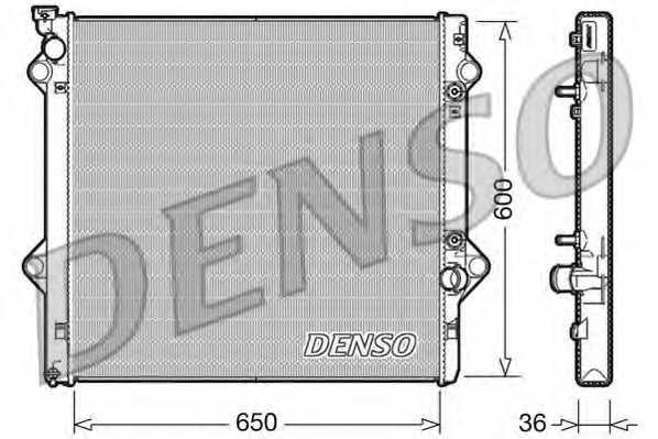 Радиатор охлаждения двигателя DENSO DRM50049 - изображение
