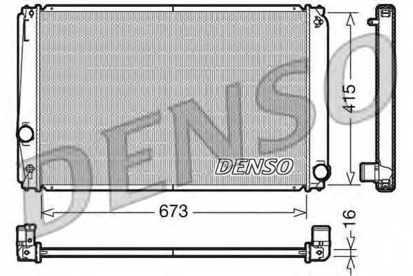 Радиатор охлаждения двигателя DENSO DRM50051 - изображение