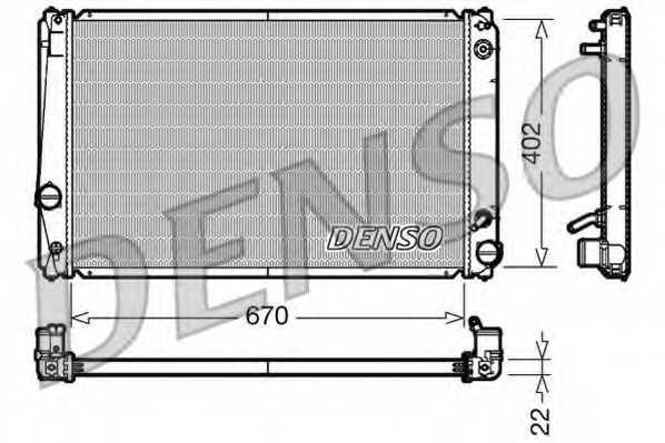Радиатор охлаждения двигателя DENSO DRM50052 - изображение