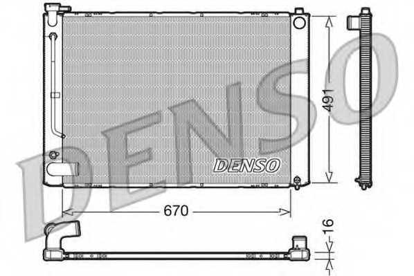 Радиатор охлаждения двигателя DENSO DRM50055 - изображение