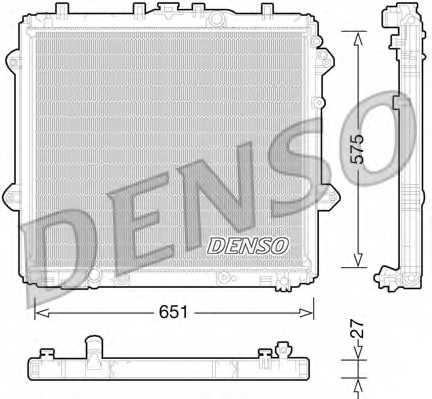 Радиатор охлаждения двигателя DENSO DRM50060 - изображение
