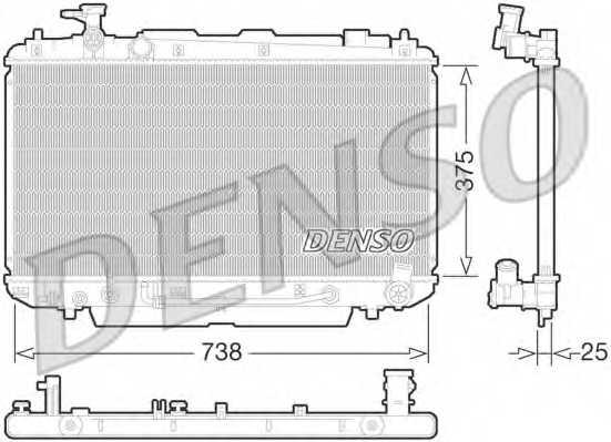Радиатор охлаждения двигателя DENSO DRM50065 - изображение