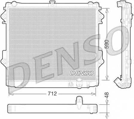 Радиатор охлаждения двигателя DENSO DRM50074 - изображение